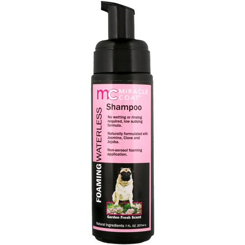 Miracle Care, Miracle Coat, Foaming Waterless Shampoo, For Dogs, Garden Fresh Scent, 7 fl oz (207 ml) فوائد