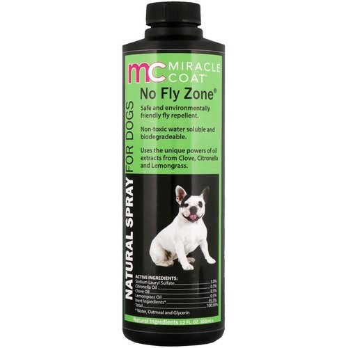 Miracle Care, Miracle Coat, Natural Spray For Dogs, No Fly Zone, 12 fl oz (355 ml) فوائد