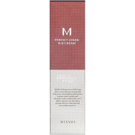 Missha, Perfect Cover BB Cream, SPF 42 PA+++, No. 23 Natural Beige, 50 ml:BB - CC Creams, وجه
