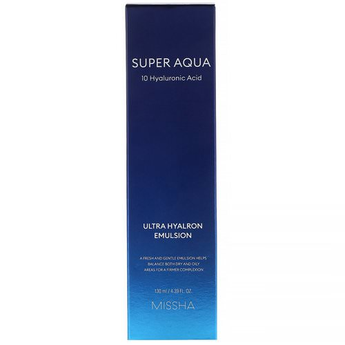 Missha, Super Aqua, Ultra Hyalron Emulsion, 4.39 fl oz (130 ml) فوائد