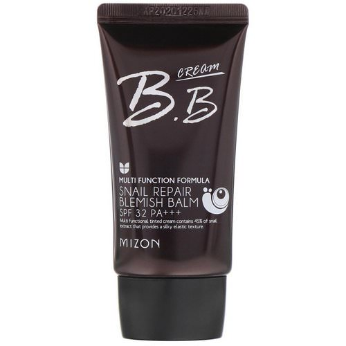 Mizon, BB Cream, Snail Repair Blemish Balm, SPF 32 PA+++, Rose Beige, 1.69 fl oz (50 ml) فوائد