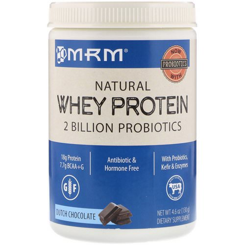MRM, Natural Whey Protein, Dutch Chocolate, 4.6 oz (130 g) فوائد