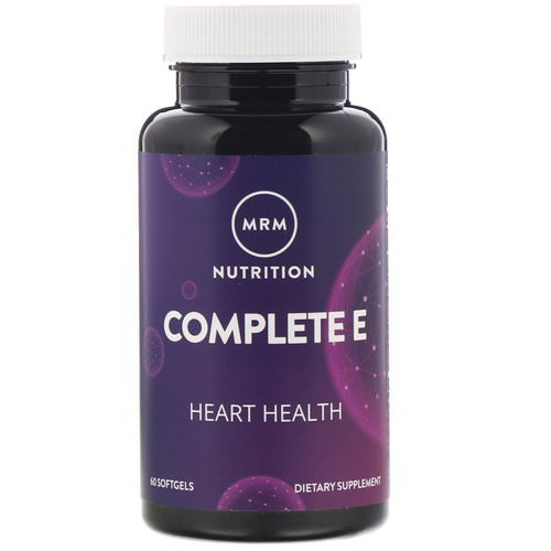 MRM, Nutrition, Complete E, 60 Softgels فوائد