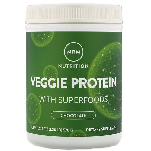 MRM, Nutrition, Veggie Protein with Superfoods, Chocolate, 1.26 lbs (570 g) فوائد