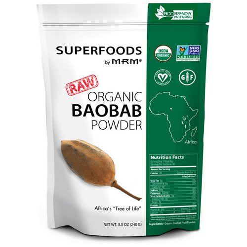 MRM, Raw Organic Baobab Powder, 8.5 oz (240 g) فوائد