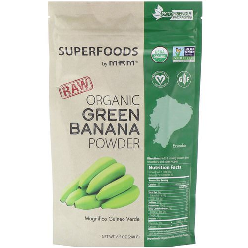 MRM, Raw Organic Green Banana Powder, 8.5 oz (240 g) فوائد