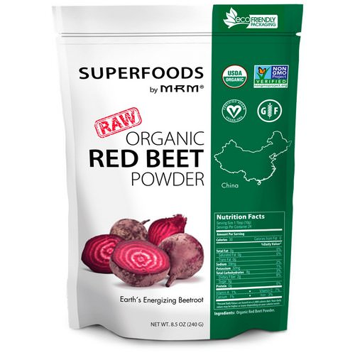 MRM, Raw Organic Red Beet Powder, 8.5 oz (240 g) فوائد