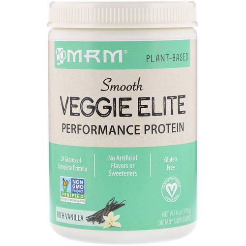 MRM, Smooth Veggie Elite Performance Protein, Rich Vanilla, 6 oz (170 g) فوائد