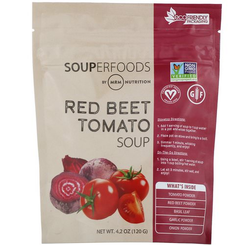 MRM, Souperfoods, Red Beet Tomato Soup, 4.2 oz (120 g) فوائد