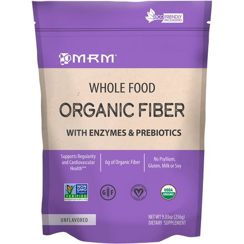 MRM, Whole Food, Organic Fiber with Enzymes and Prebiotics, Unflavored, 9.3 oz (256 g) فوائد