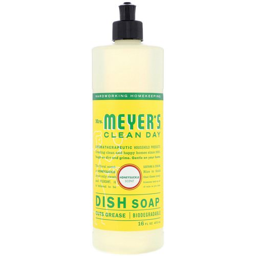 Mrs. Meyers Clean Day, Dish Soap, Honeysuckle Scent, 16 fl oz (473 ml) فوائد