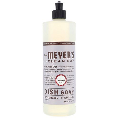 Mrs. Meyers Clean Day, Dish Soap, Lavender Scent, 16 fl oz (473 ml) فوائد