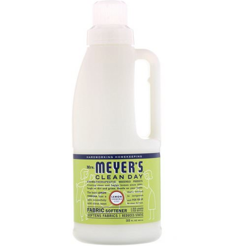 Mrs. Meyers Clean Day, Fabric Softener, Lemon Verbena Scent, 32 fl oz (946 ml) فوائد