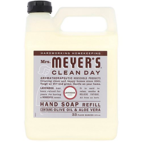 Mrs. Meyers Clean Day, Liquid Hand Soap Refill, Lavender Scent, 33 fl oz (975 ml) فوائد