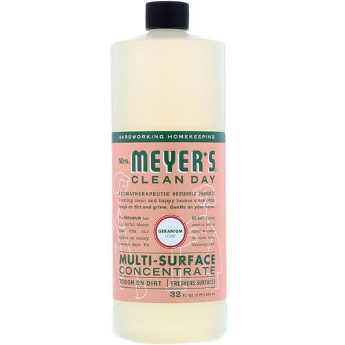 Mrs. Meyers Clean Day, Multi-Surface Concentrate, Geranium, 32 fl oz (946 ml) فوائد