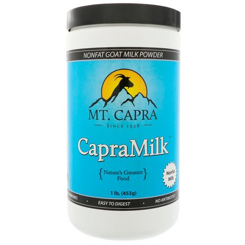 Mt. Capra, CapraMilk, Non-Fat Goat Milk Powder, 1 lb (453 g) فوائد