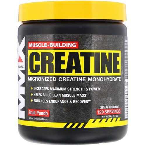 MuscleMaxx, Muscle Building Creatine, Fruit Punch, 9.3 oz (264 g) فوائد