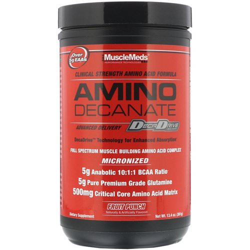 MuscleMeds, Amino Decanate, Fruit Punch, 13.4 oz (381 g) فوائد