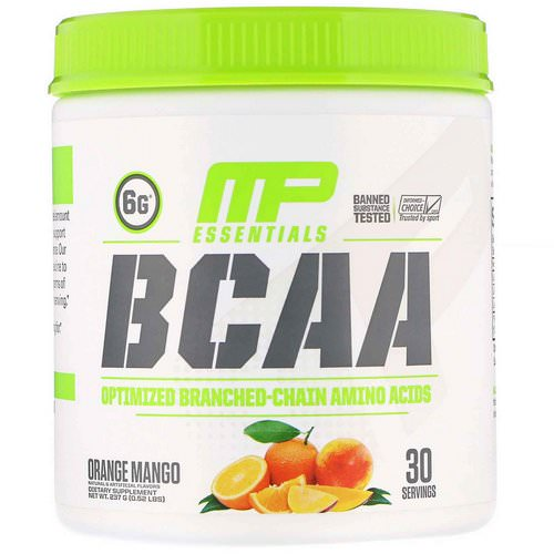MusclePharm, BCAA Essentials, Orange Mango, 0.52 lb (237 g) فوائد