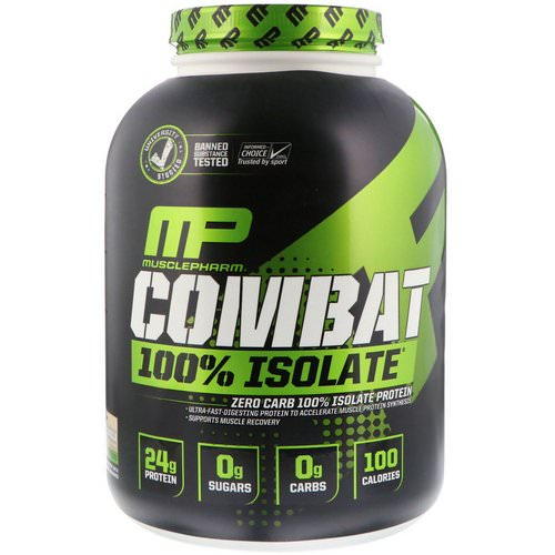 MusclePharm, Combat 100% Isolate Protein, Vanilla, 5 lb (2268 g) فوائد