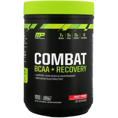 MusclePharm, Combat BCAA + Recovery, Fruit Punch, 17 oz (483 g) فوائد