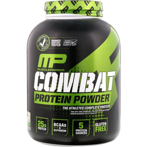 MusclePharm, Combat Protein Powder, Cookies 'N' Cream, 5 lbs (2275 g) فوائد