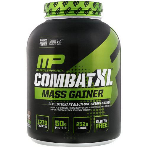 MusclePharm, Combat XL Mass Gainer, Chocolate, 6 lbs (2722 g) فوائد