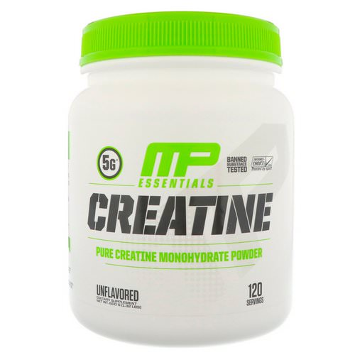 MusclePharm, Creatine Essentials, Unflavored, 1.32 lbs (600 g) فوائد