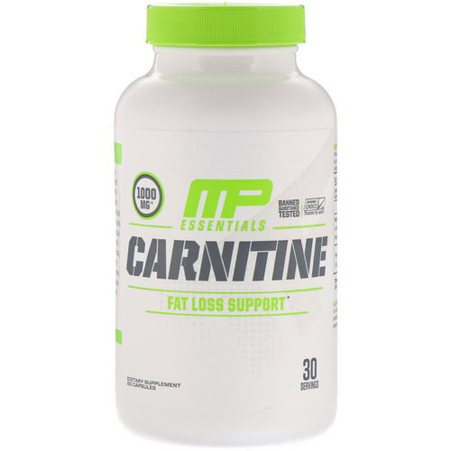 MusclePharm, Carnitine, Fat Loss Support, 60 Capsules فوائد