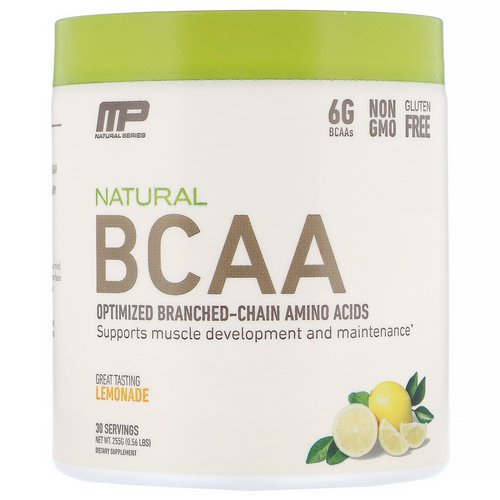 MusclePharm, Natural BCAA, Lemonade, 0.56 lbs (255 g) فوائد