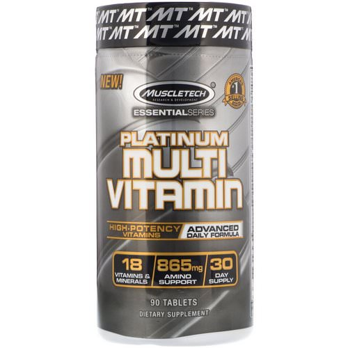 Muscletech, Essential Series, Platinum Multi Vitamin, 90 Tablets فوائد