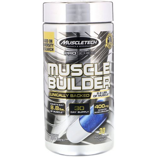 Muscletech, Pro Series, Muscle Builder, 30 Rapid-Release Capsules فوائد