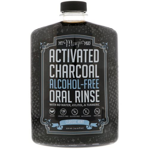 My Magic Mud, Activated Charcoal, Alcohol-Free Oral Rinse, Classic Mint, 14.20 fl oz (420 ml) فوائد