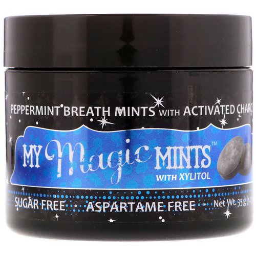 My Magic Mud, My Magic Mints with Xylitol and Activated Charcoal, Peppermint, 1.23 oz (35 g) فوائد
