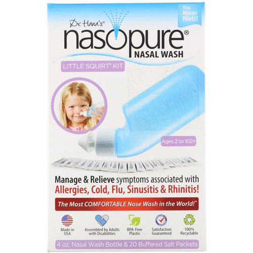 Nasopure, Nasal Wash System, Little Squirt Kit, 1 Kit فوائد
