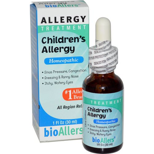 NatraBio, BioAllers, Children's Allergy, Allergy Treatment, 1 fl oz (30 ml) فوائد