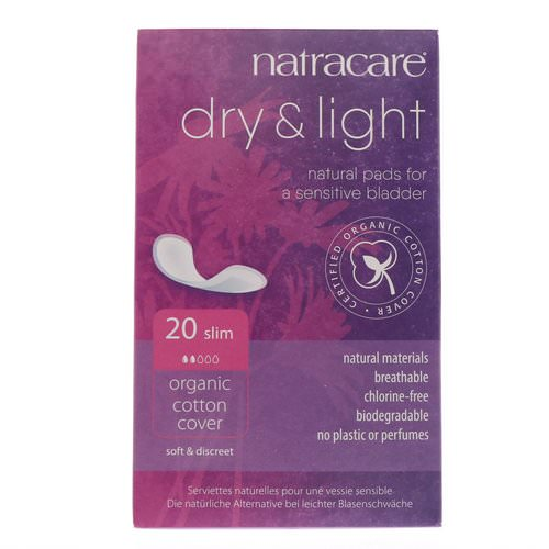 Natracare, Dry & Light, Organic Cotton Cover, Slim, 20 Pads فوائد