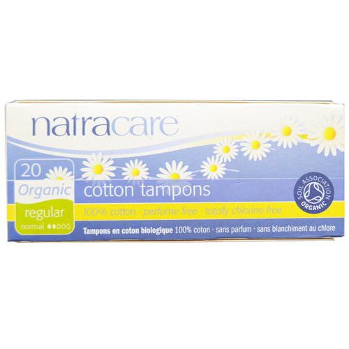 Natracare, Organic Cotton Tampons, Regular, 20 Tampons فوائد