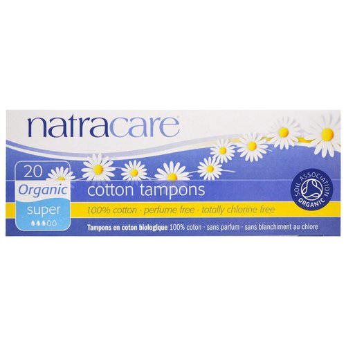 Natracare, Organic Cotton Tampons, Super, 20 Tampons فوائد