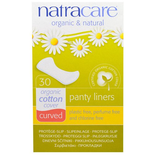 Natracare, Organic & Natural Panty Liners, Curved, 30 Liners فوائد