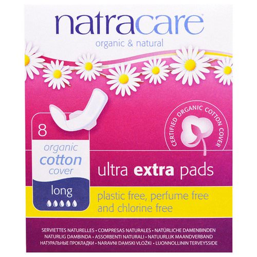 Natracare, Organic & Natural Ultra Extra Pads, Long, 8 Pads فوائد