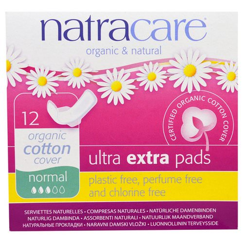 Natracare, Organic & Natural, Ultra Extra Pads, Normal, 12 Pads فوائد