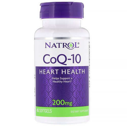Natrol, Co-Q10, 200 mg, 45 Softgels فوائد