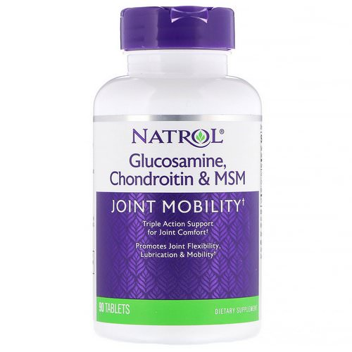 Natrol, Glucosamine, Chondroitin & MSM, 90 Tablets فوائد