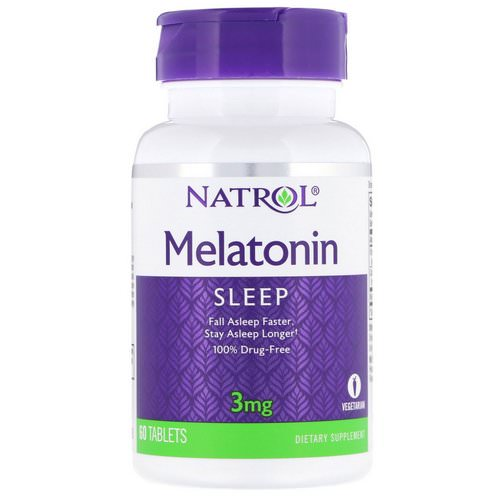 Natrol, Melatonin, 3 mg, 60 Tablets فوائد