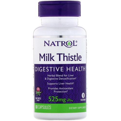 Natrol, Milk Thistle, 525 mg, 60 Capsules فوائد