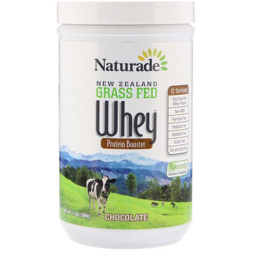 Naturade, New Zealand Grass Fed Whey Protein Booster, Chocolate, 17.8 oz (504 g) فوائد