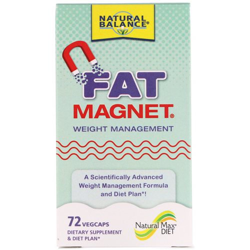 Natural Balance, Fat Magnet, Weight Management, 72 Vegcaps فوائد
