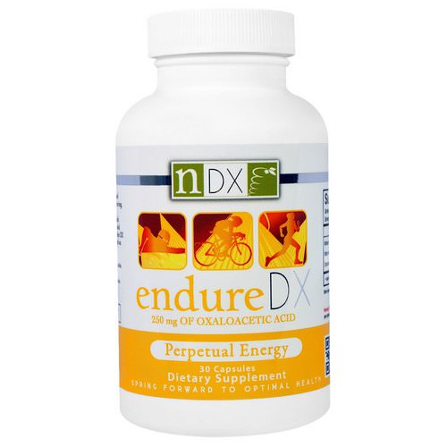 Natural Dynamix (NDX), Endure DX, Perpetual Energy, 30 Capsules فوائد