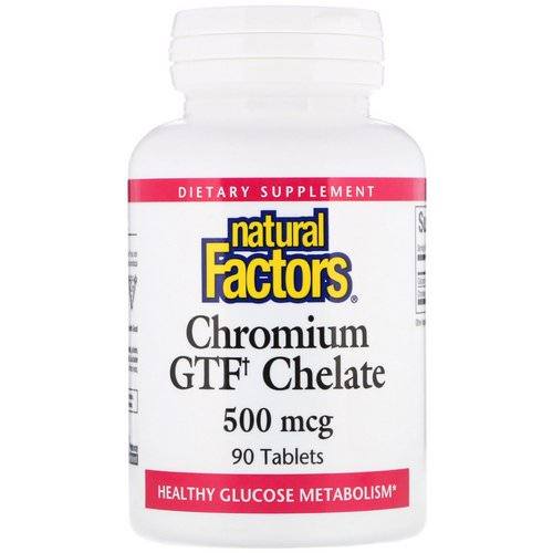 Natural Factors, Chromium GTF Chelate, 500 mcg, 90 Tablets فوائد